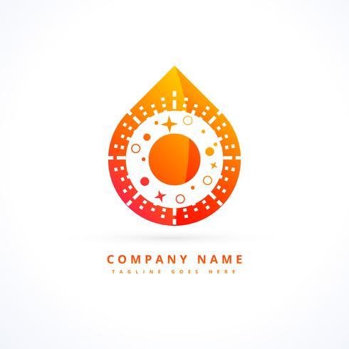 vlam logo ontwerpconcept