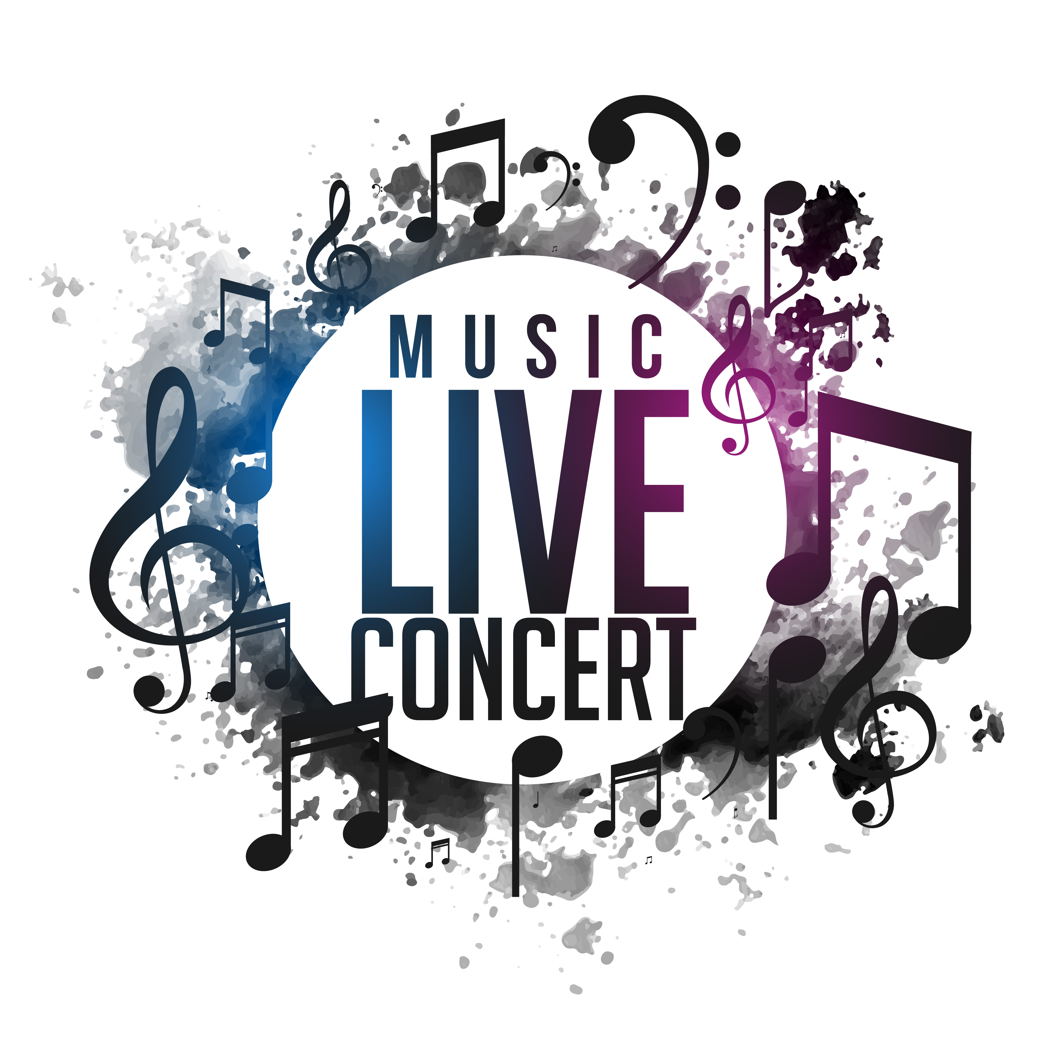 Arts Live Song Room: Live Music Poster Free Vector Art