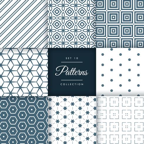 abstract set of pattern in geometric style