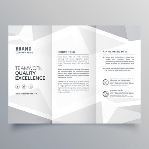 minimal white trifold business brochure design template