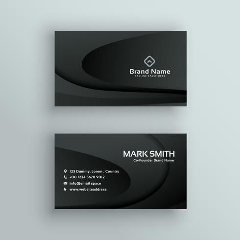 vector dark business card design