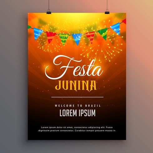 festa junina flyer invitation background design