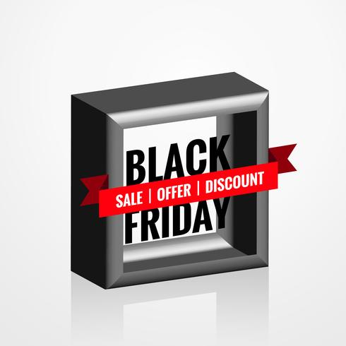3d style black friday sale element design