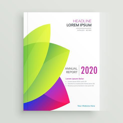 diseño de plantilla de folleto elegante informe anual moderno
