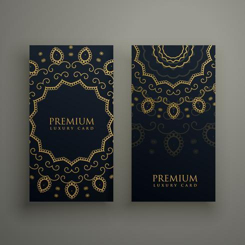 premium mandala decoratie banners of kaart ontwerp vector