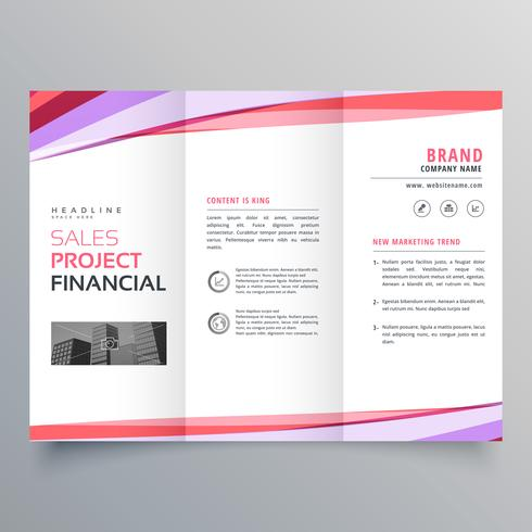 creative trifold business brochure template layout with colorful