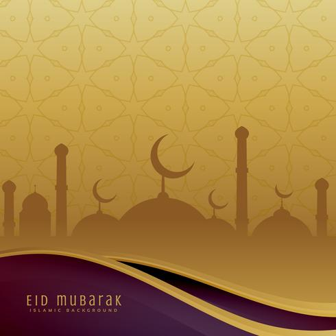 eid festival background in golden color