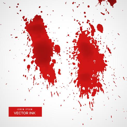 salpicadura de sangre roja sobre fondo blanco