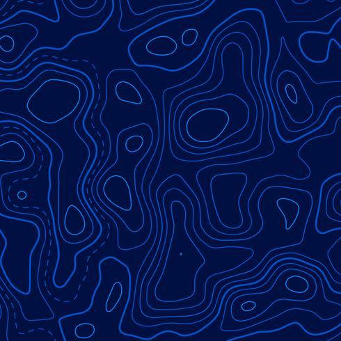 Fondo de líneas de contorno topográfico azul