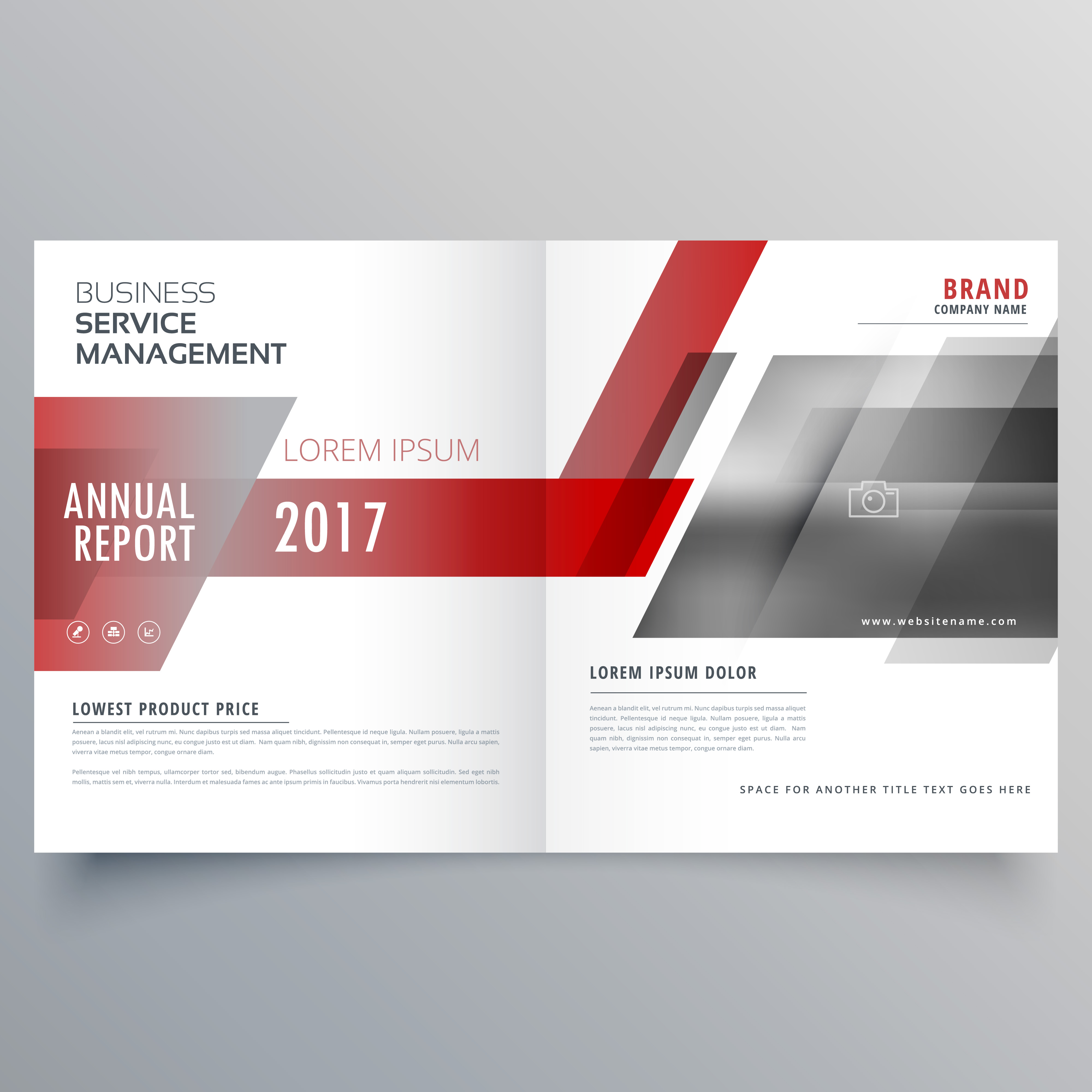 stylish brand identity business magazine cover page template