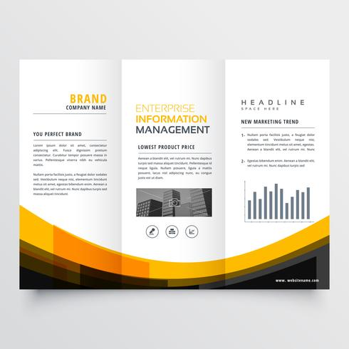 trifold business brochure flyer leaflet design template