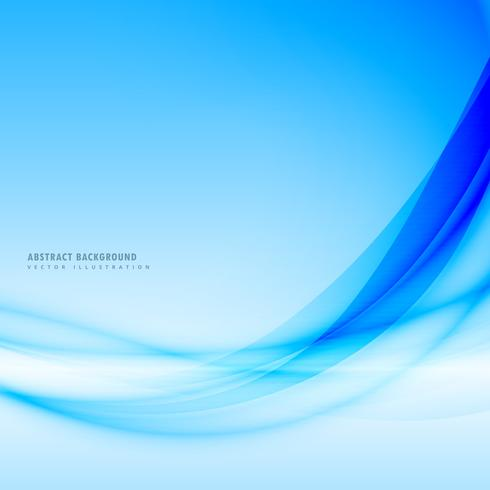 beautiful blue background with flowing smooth wave