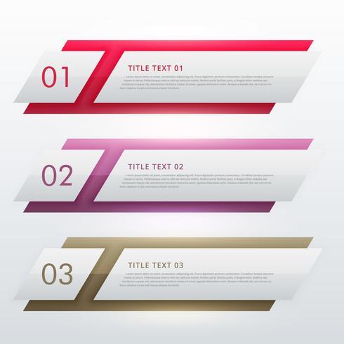 infografisk designmall för tre steg