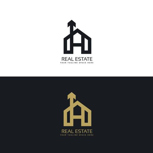 clean house logo concept design with arrow symbol