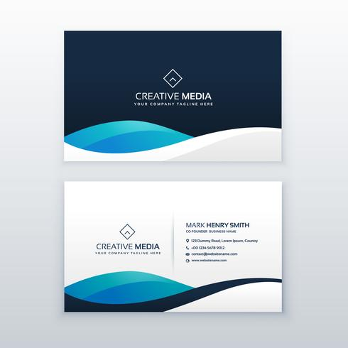 modern blue creative business card design