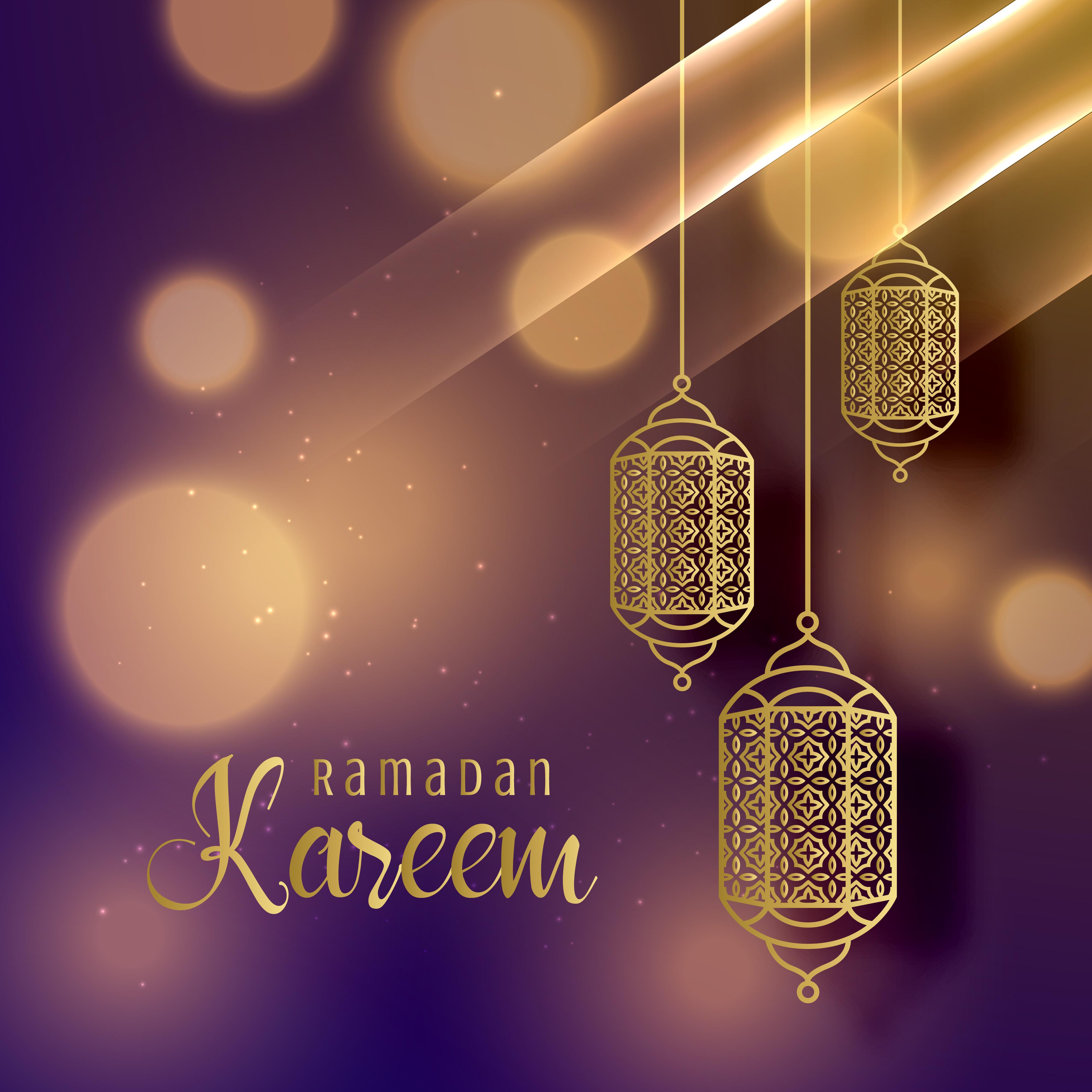 Beautiful hanging lamps for ramadan kareem season