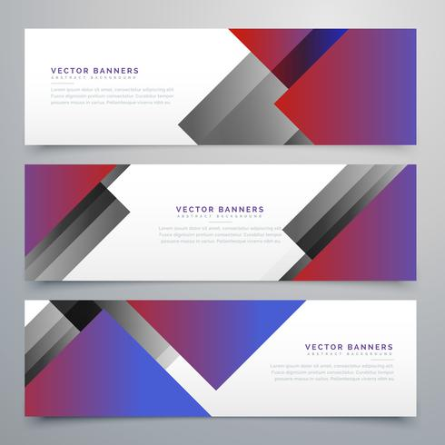 elegant geometric banners in business style