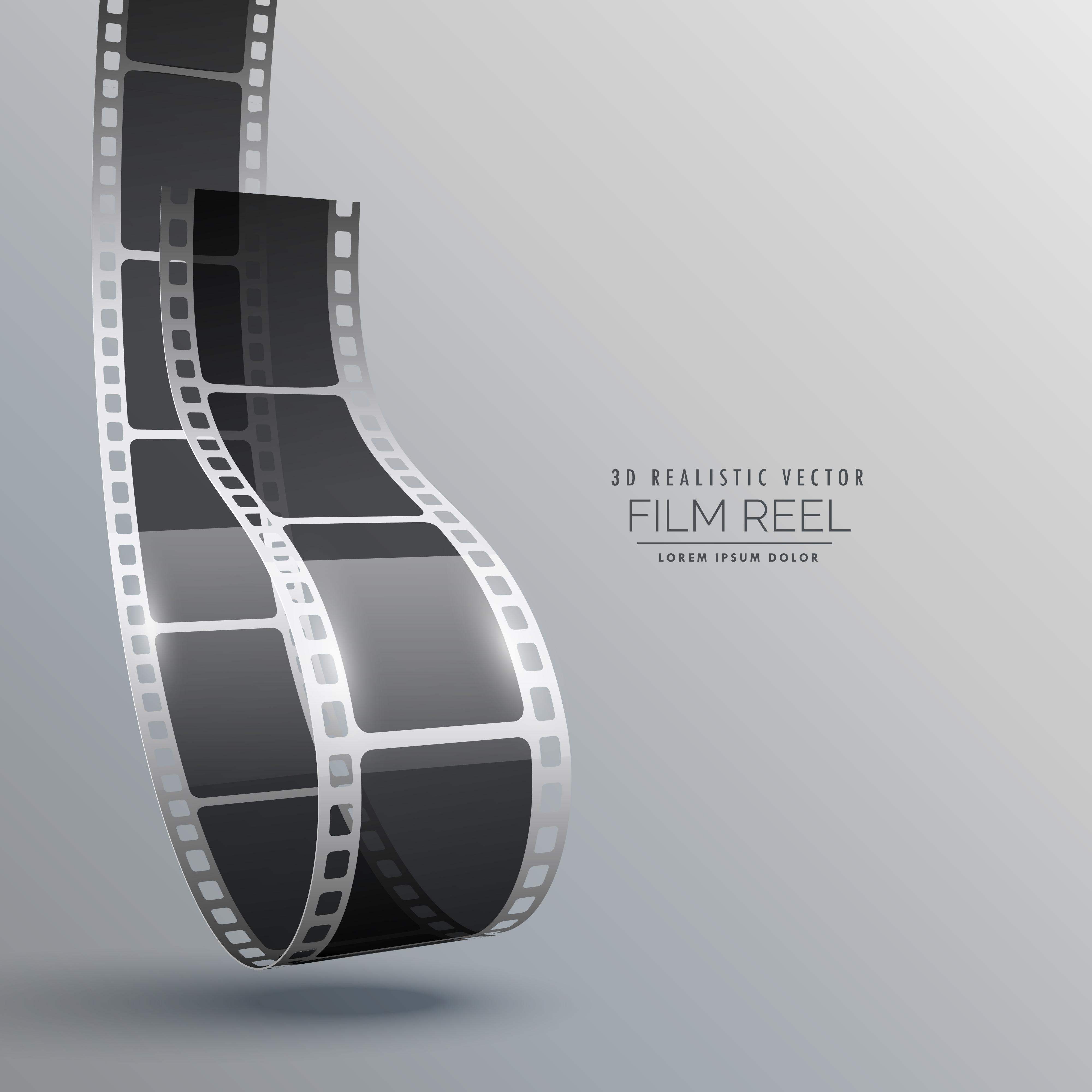 Film Strip In 3d Style Vector Design