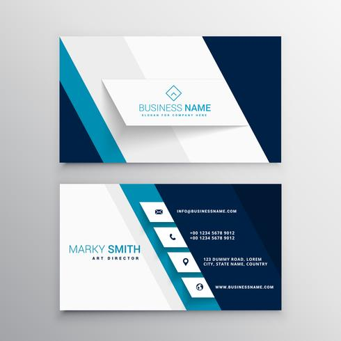 Modern blue and white business card template download vetores e modern blue and white business card template reheart Image collections