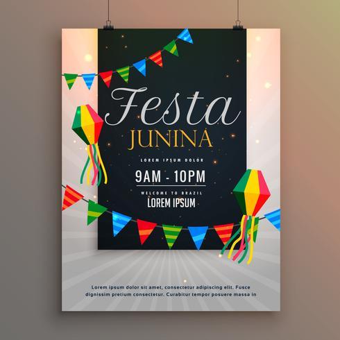 cartaz para o projeto de saudação de férias festa junina