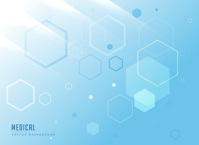 molecules medical background in blue color vector