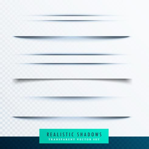 realistic paper shadows collection vector