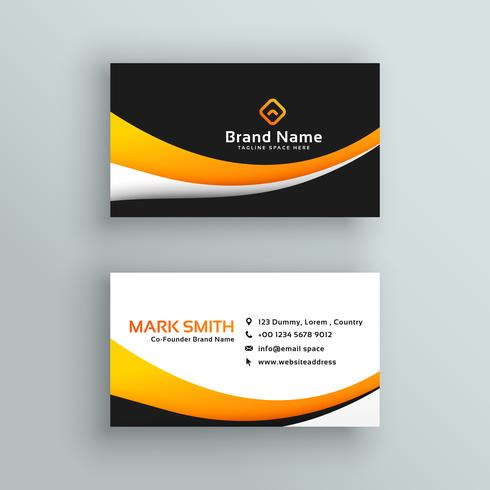 elegant yellow black modern business card design