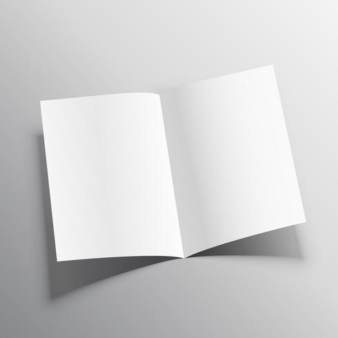 3d realistic paper folder mockup