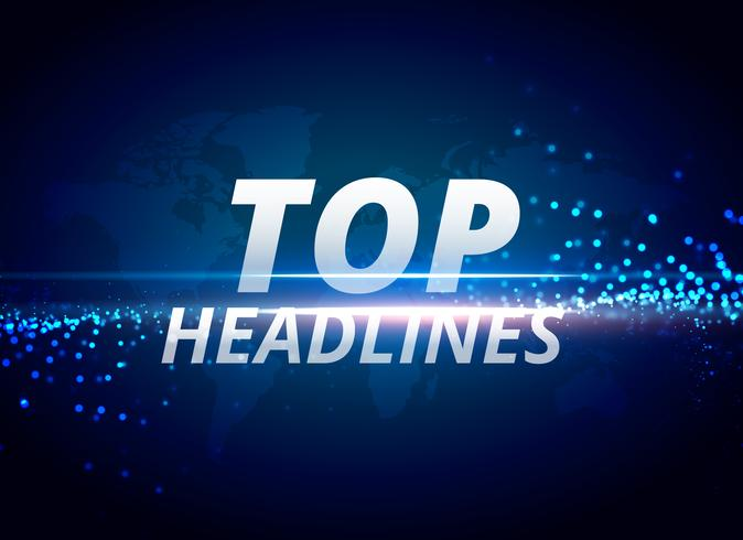top headlines news background concept