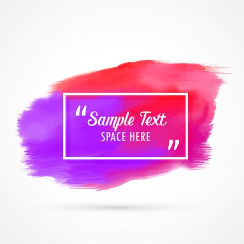 abstract watercolor grunge stain background with text space