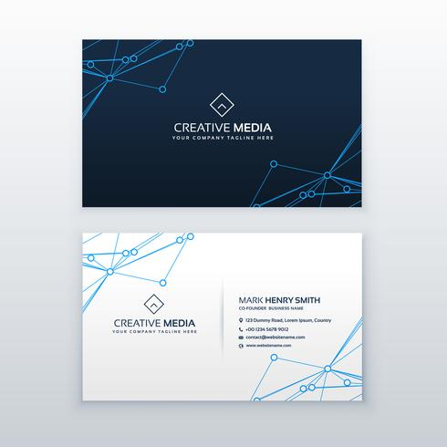 vector blue clean business card design