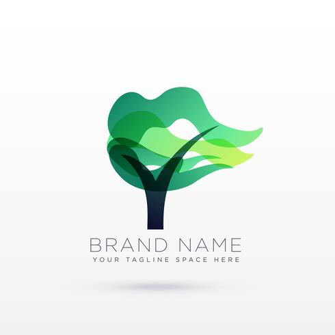 creative tree logo design illustration