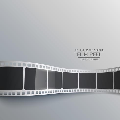 3d film strip vector background design