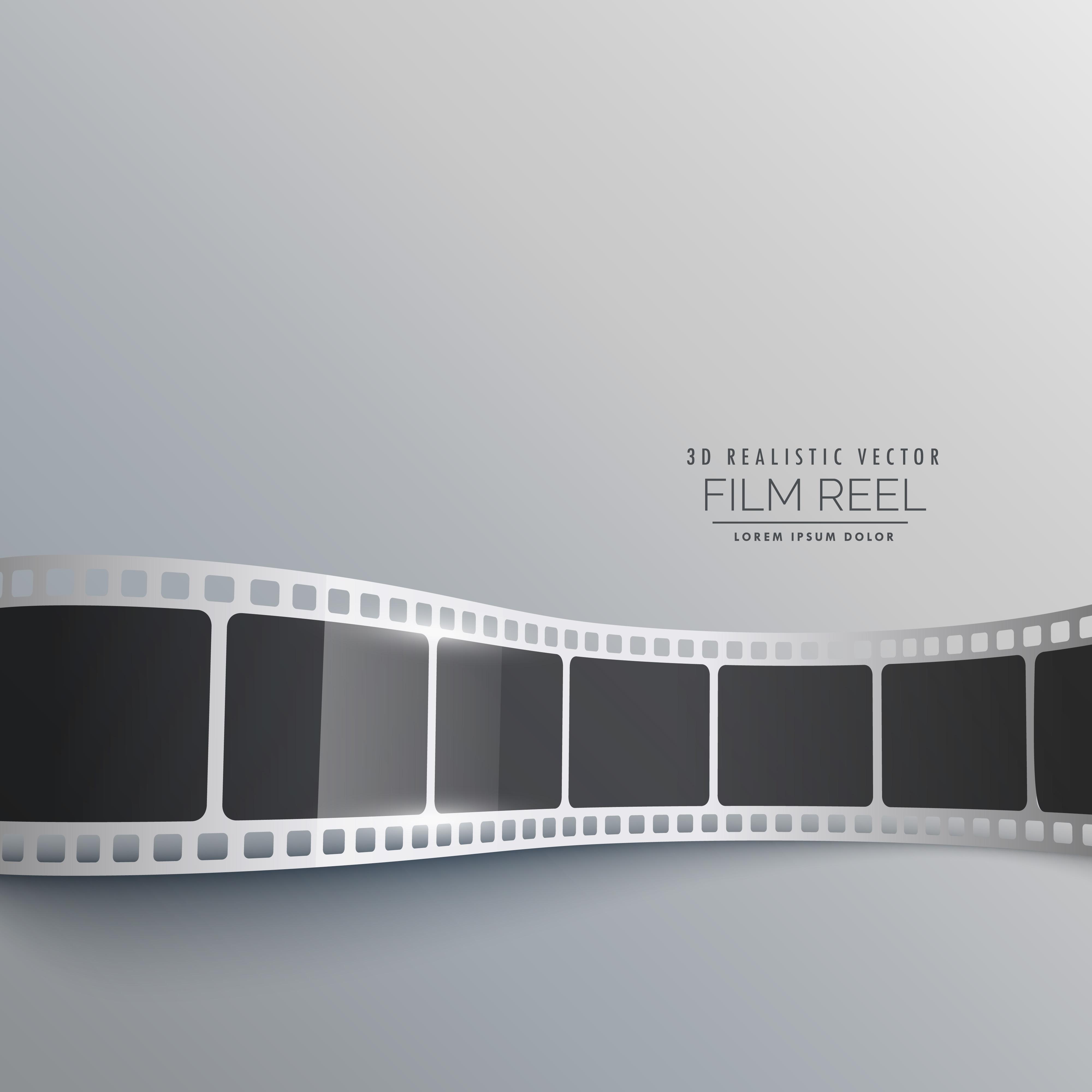 3d film strip vector background design - Kostenlose Vektor-Kunst ...