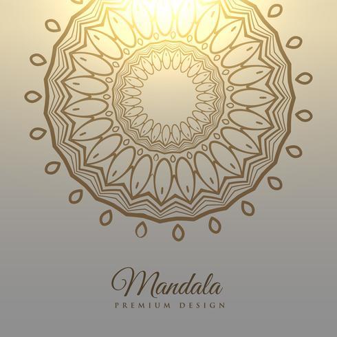 elegante mandala ontwerp kaart achtergrond