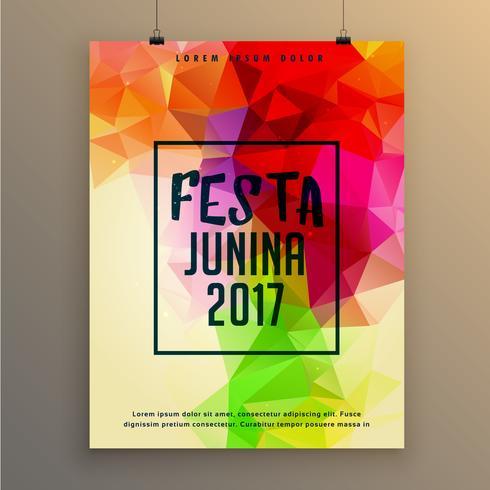 design de modelo de cartaz festa junina para festival do brasil