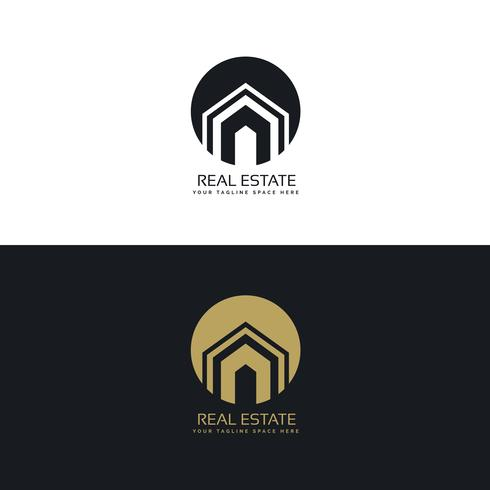 Modern real estate or house logo design concept download for Modern house logo