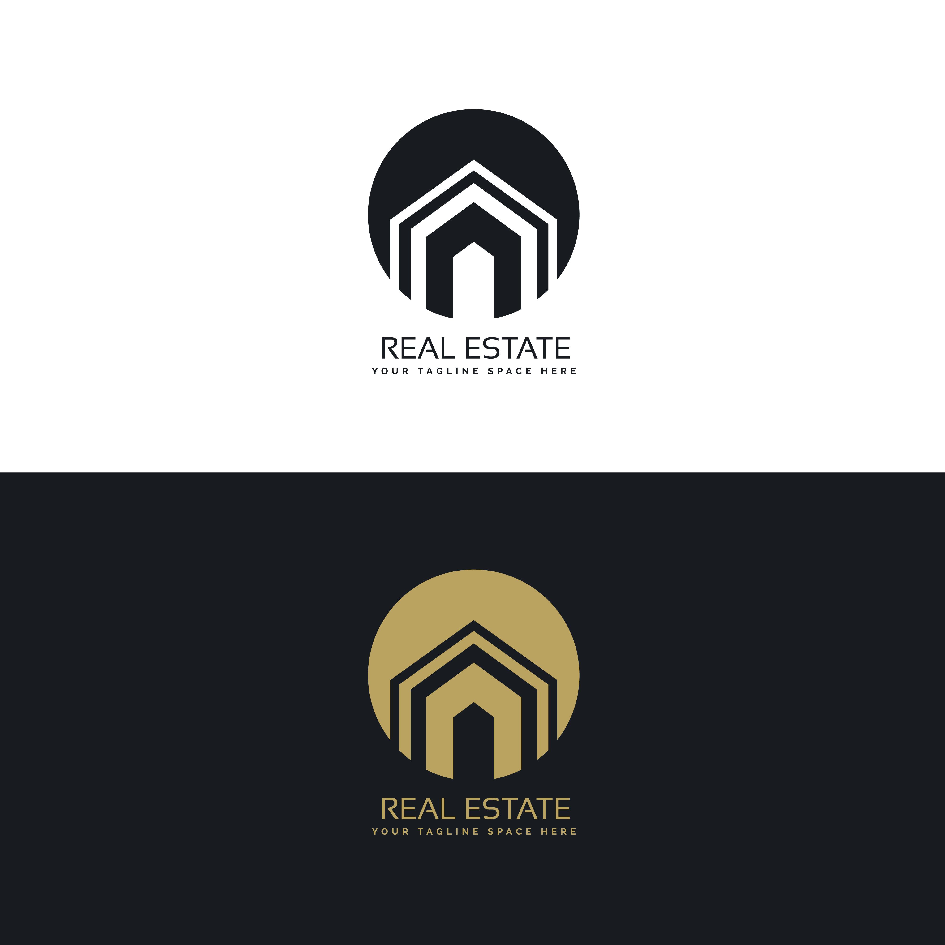 modern real estate or house logo design concept download