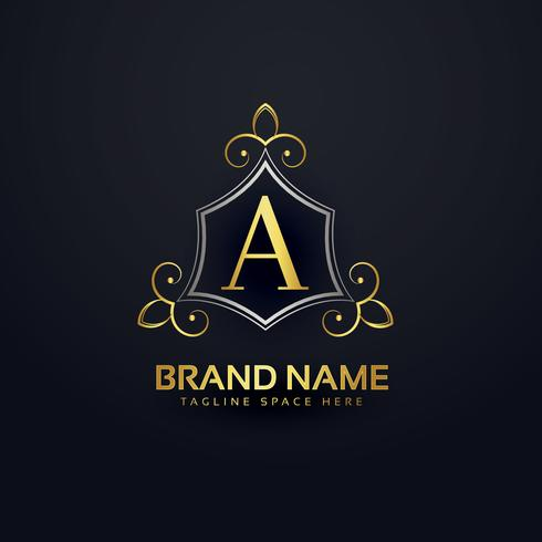 premium logo design for letter A