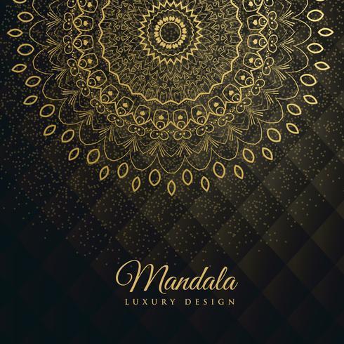 premium background with golden mandala decoration