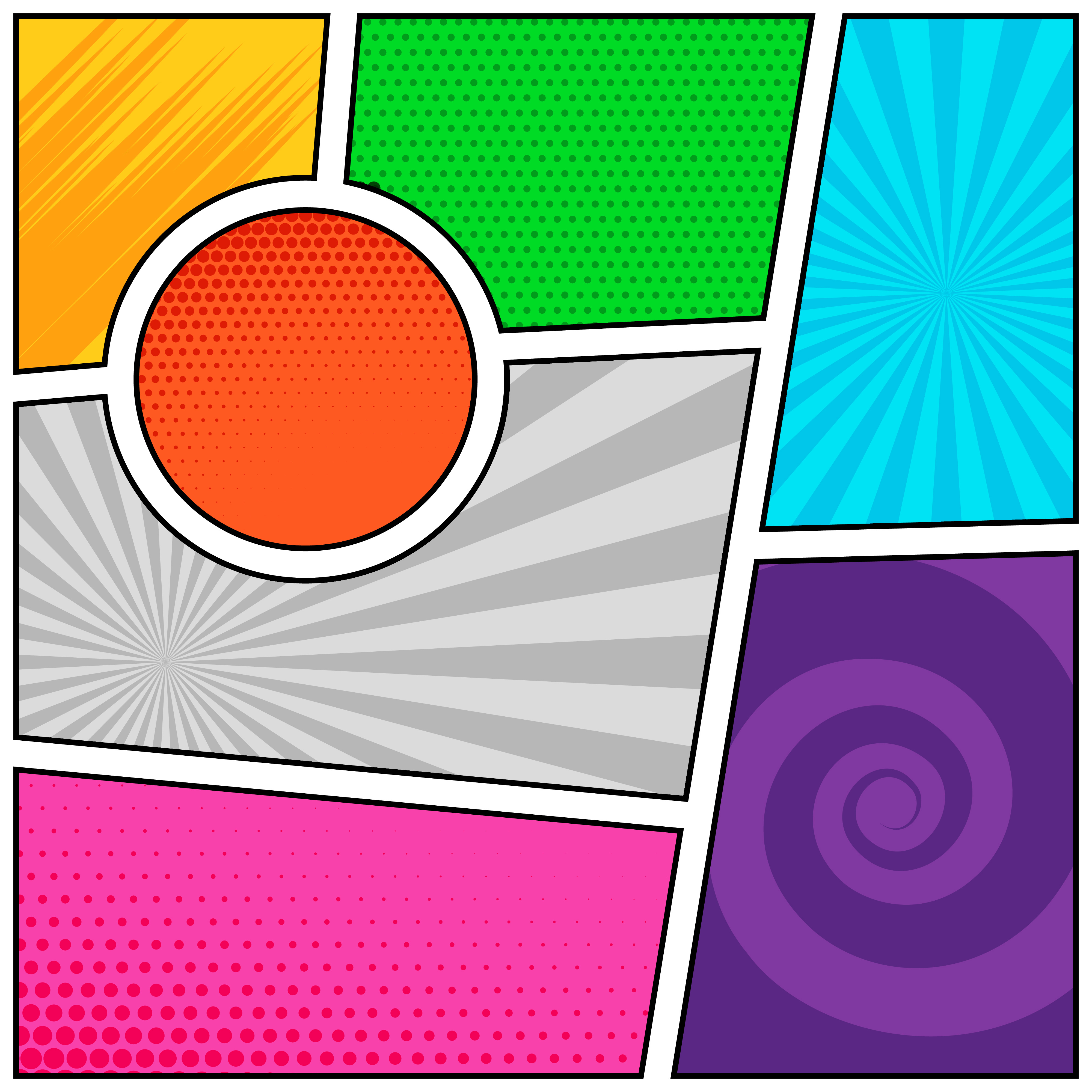 empty comic book pages background template design