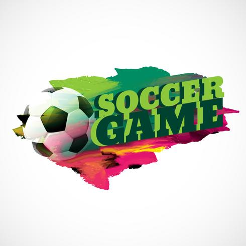 abstract football background with paint effect