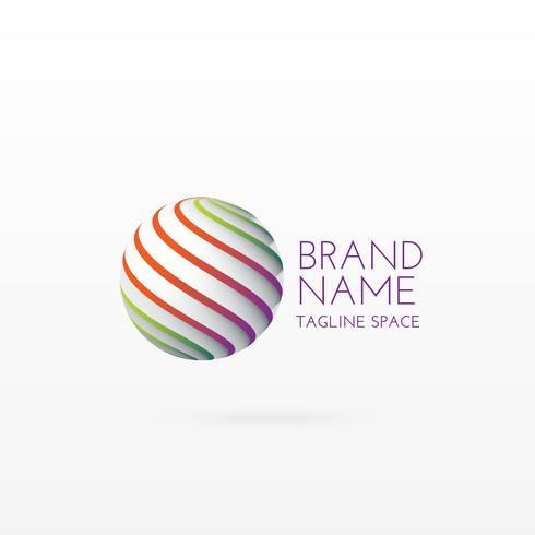 3d circle logo concept design art