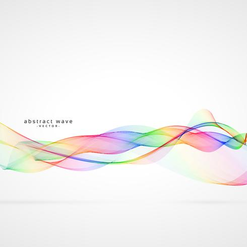 abstract swirl colorful wave vector background