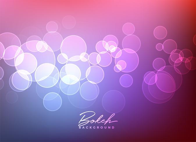 lumières de bokeh brillant vector background