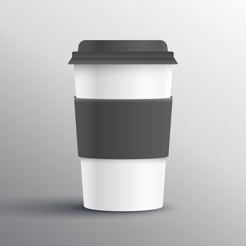 realistic coffee mug template design object
