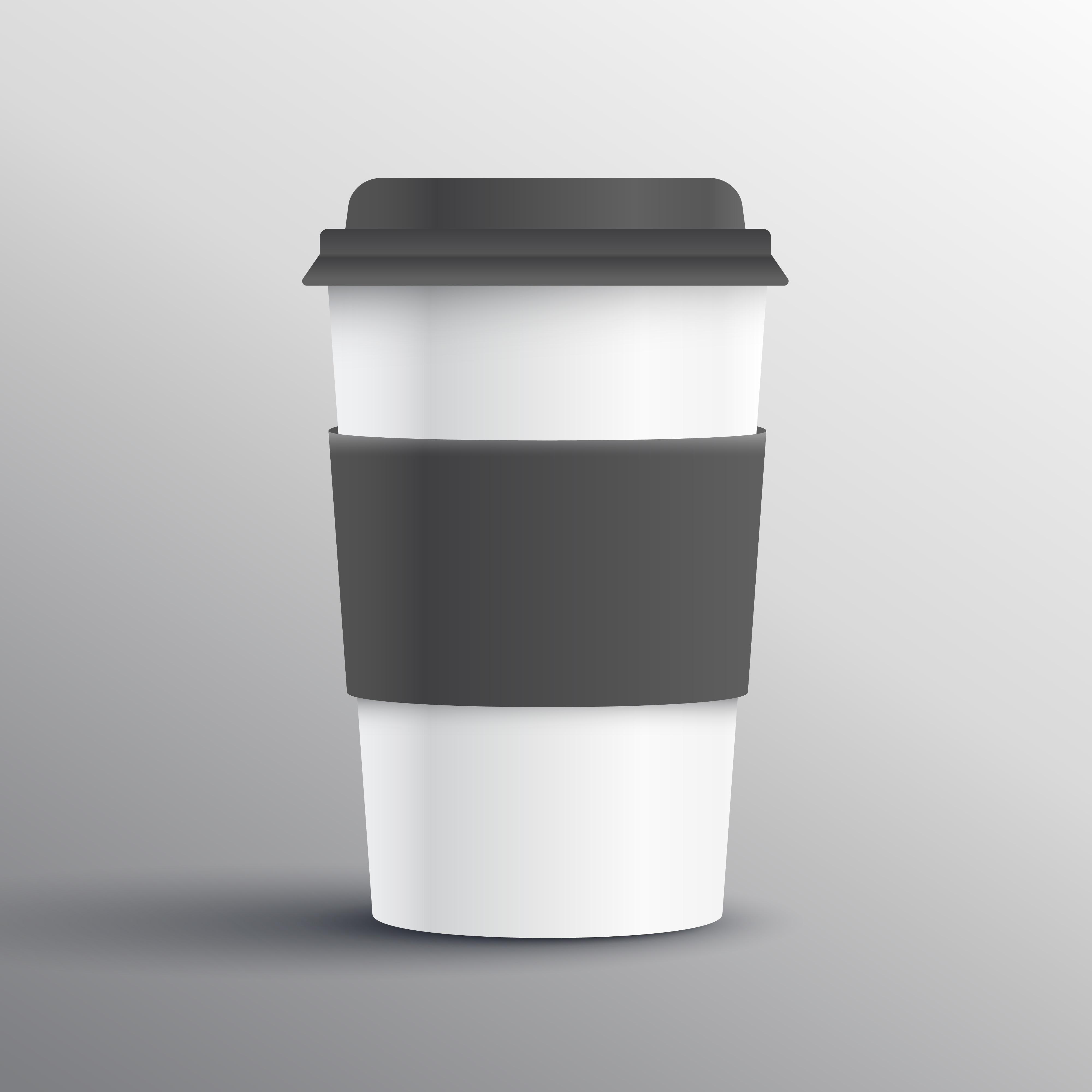 realistic coffee mug template design object - Download Free Vector ...