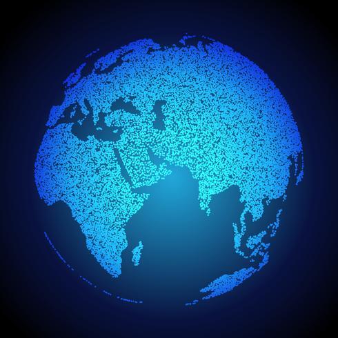 Erde Hintergrund mit Punkten gemacht