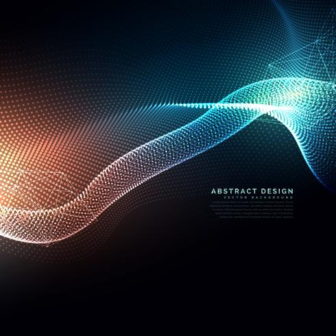 abstract digital particles flowing background in technology and