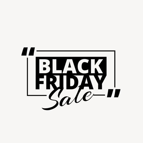 clean black friday sale promotional text in black color